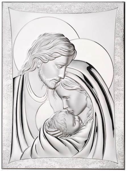 Obrazek Srebrny Św. Rodzina Prostokąt 16x21 cm