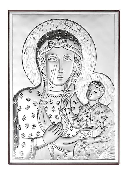 Obrazek Srebrny Matka Boża Częstochowska 9x13