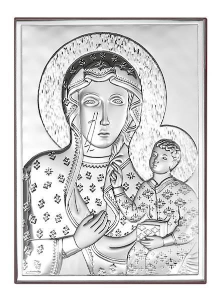 Obrazek Srebrny Matka Boża Częstochowska 13x18