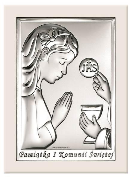Obrazek Srebrny I Komunia Św. Dz. Białe Drew 11x15