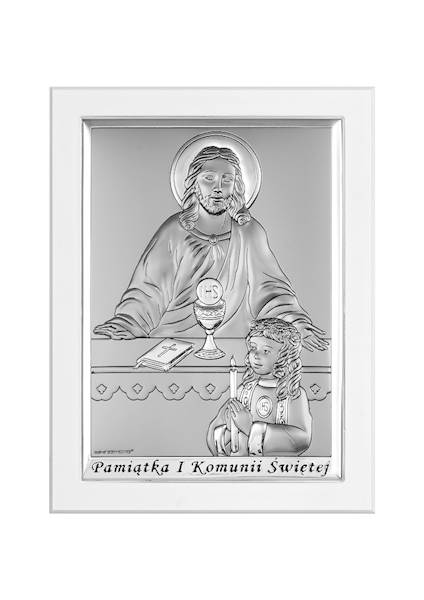 Obrazek Srebrny I Komunia Św. Dz Białe Drewn11x15