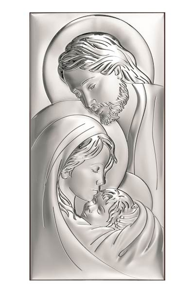 Obrazek Srebrny Św. Rodzina 6x12