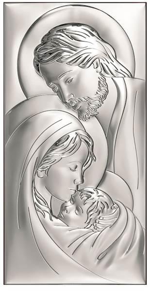 Obrazek Srebrny Św. Rodzina 9x18