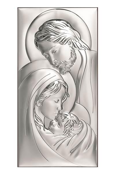 Obrazek Srebrny Św. Rodzina 18x36