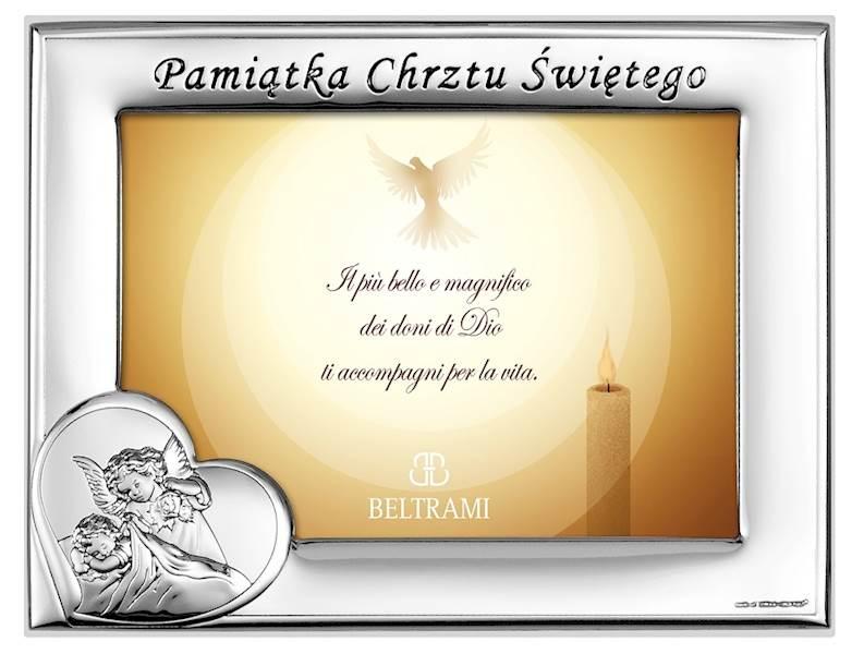 Ramka Srebrna Chrzest Św. Poziom 13x9
