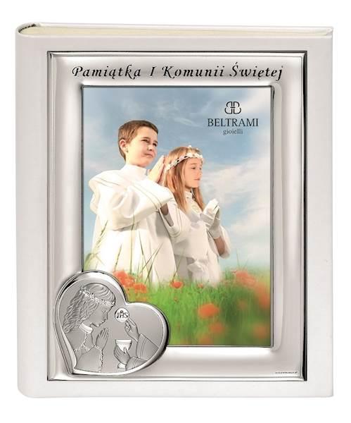 Album I Komunia Św.Srebrna Ramka Dziewczynka 20x25