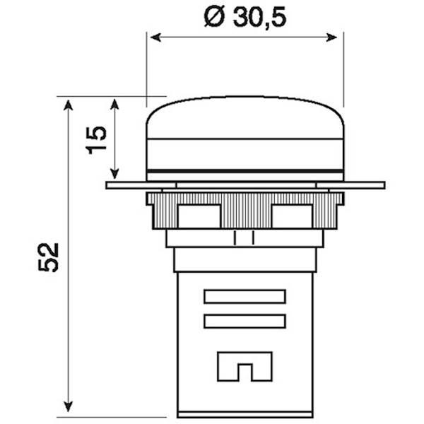 GIOVENZANA LAMPKA LED 110V AC CZERWONA PLML1L110