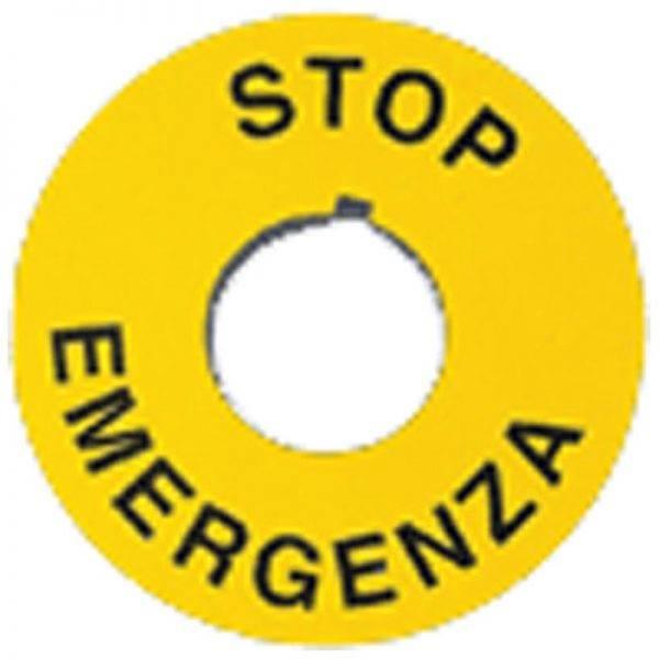 GIOVENZANA NAKLEJKA EMERGENCY STOP PTE/A