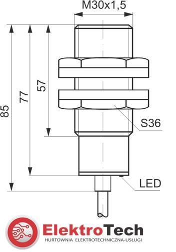 SELS CZUJNIK INDUKCYJNY PCIA10R 230V