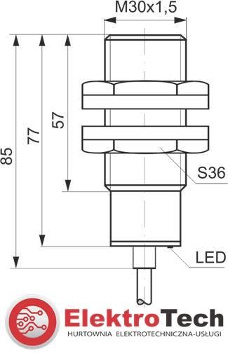 SELS CZUJNIK INDUKCYJNY PCID10RP 24V DC M30