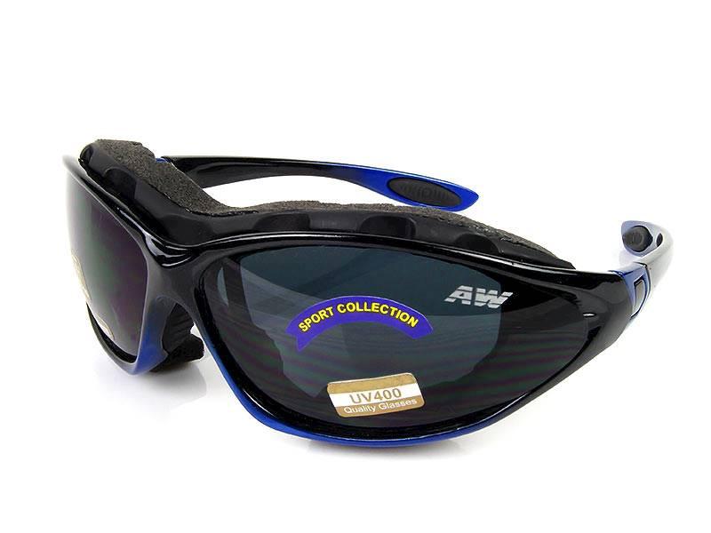 Okulary narciarskie Freezeline - czarno granatowe