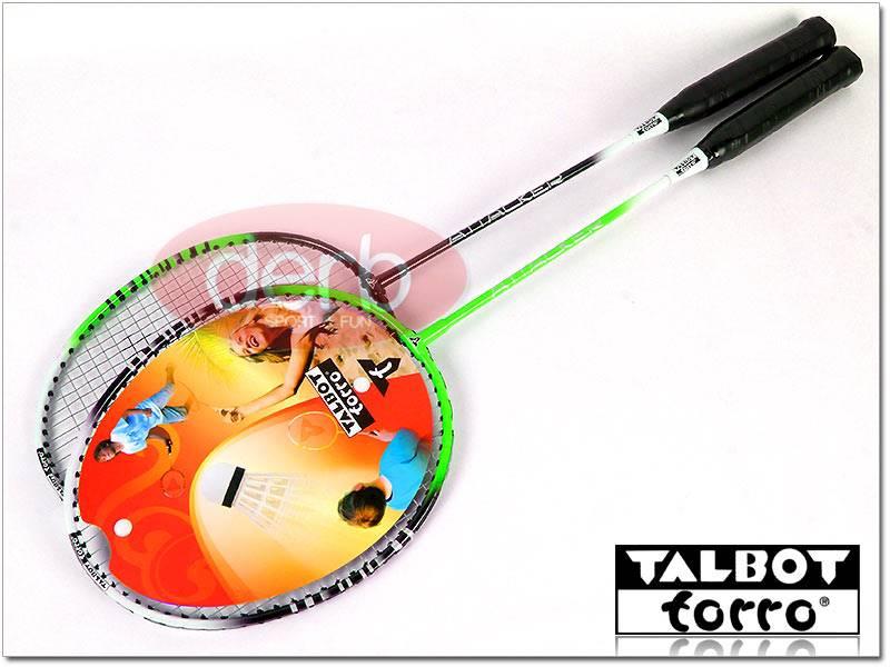 Zestaw do badmintona TALBOT 2 rakiety+lotki