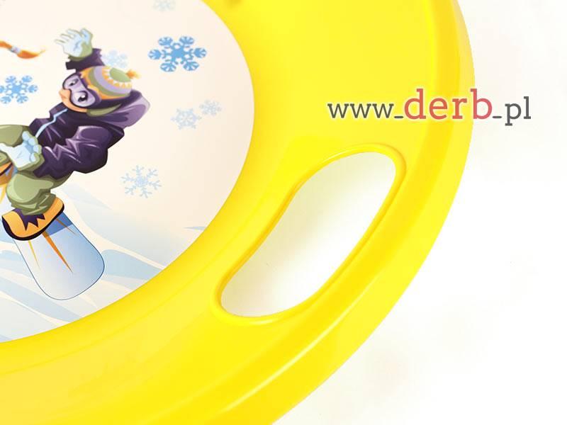 Ślizgacz dla dzieci - snowboard żółty