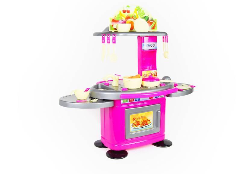 Kuchnia dla dzieci 78 cm z blatami - Różowa