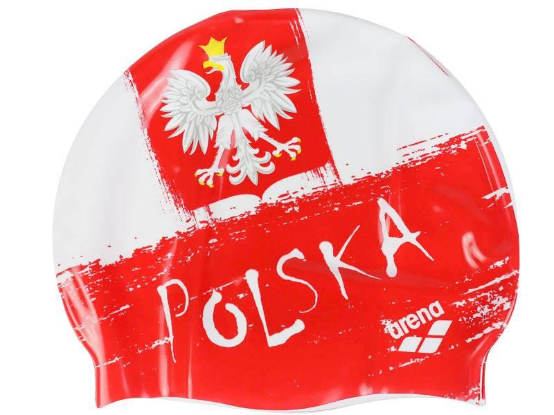 Czepek do pływania ARENA Print 2 - Flag Polska