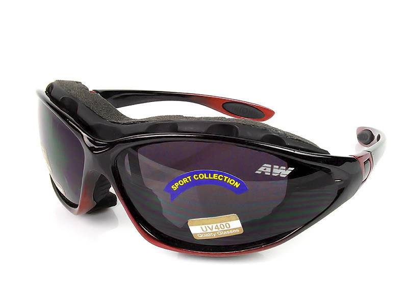 Okulary narciarskie Freezeline - czarno wiśniowe
