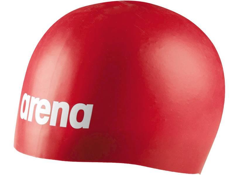Czepek silikonowy ARENA Mulded PRO - Czerwony