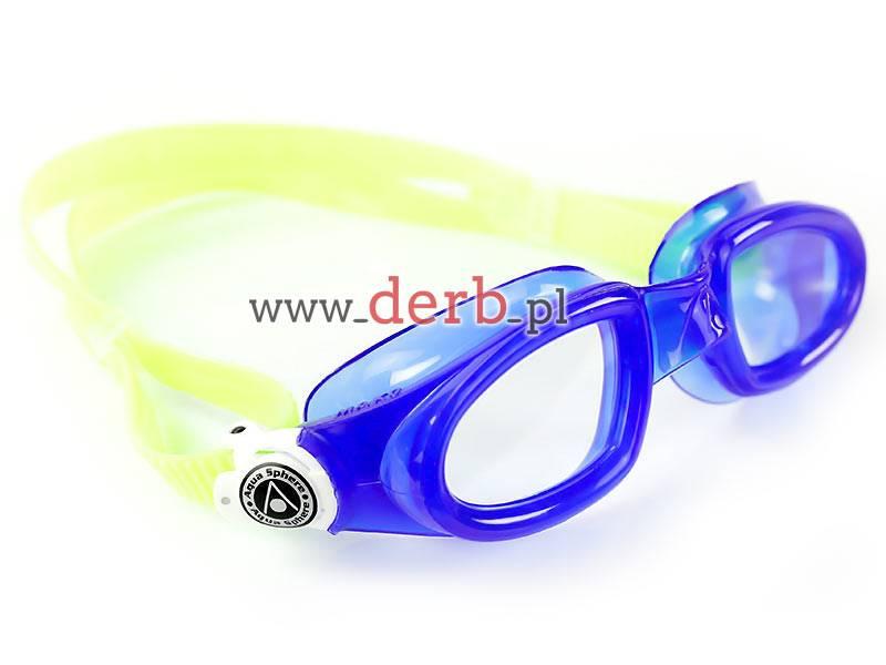 Aqua Sphere Okulary Mako Clear Lens blue/white