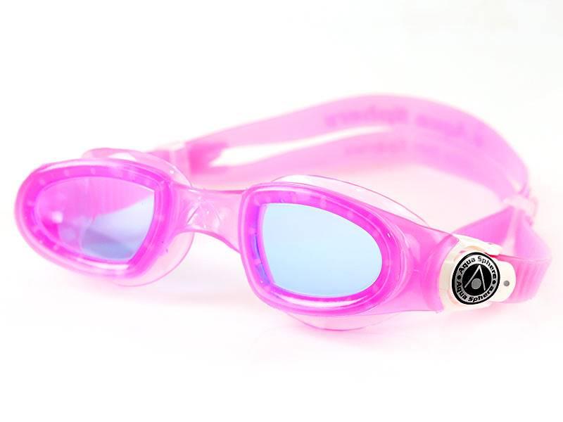 Aqua Sphere Okulary Moby Kid Blue Lens pink/white