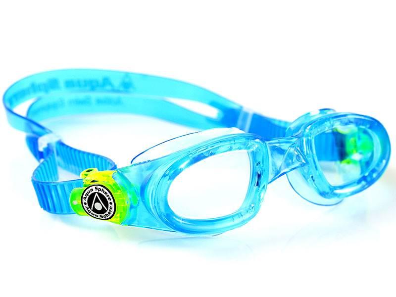 Aqua Sphere Okulary Moby Kid Clear Lens aqua/lime