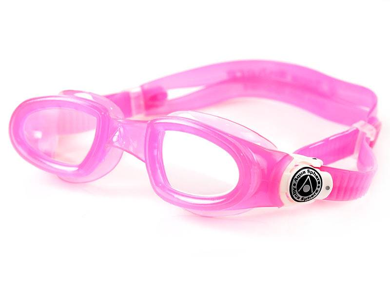 Aqua Sphere Okulary Moby Kid Clear Lens pink/white
