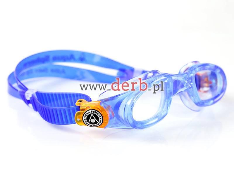 Aqua Sphere Okulary Moby Kid Clear Lens blue/orang