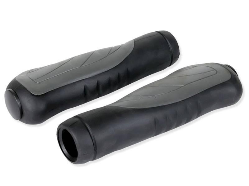 Chwyty rowerowe ergonomiczne - szaro czarne