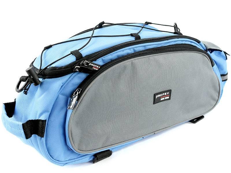 Sakwa na bagażnik - niebieska