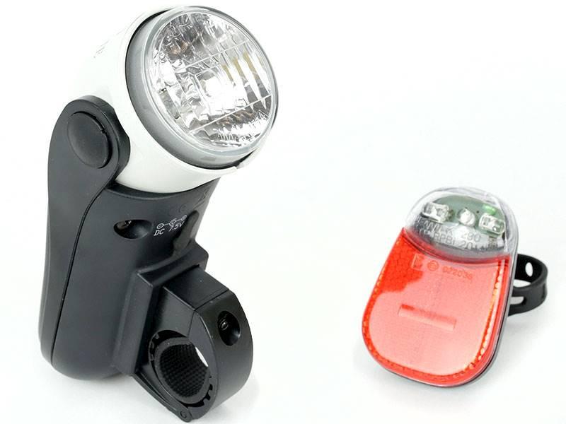 Zestaw lamp rowerowych halogenowa