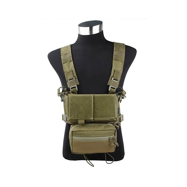 TMC Chest Rig Modular Lightweight Full Set Khaki
