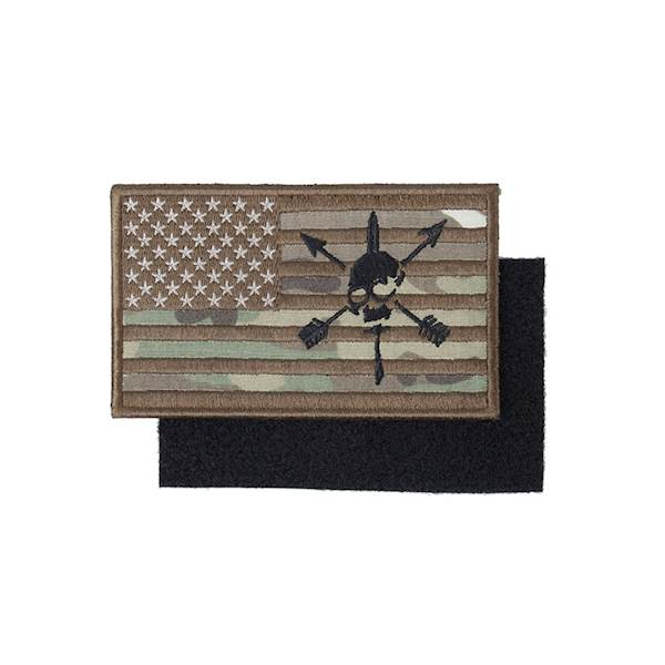 TMC Patch US Nous Defions Flag MultiCam
