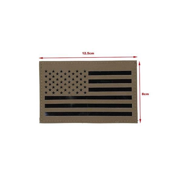 TMC Patch US Flag Laser Cut Coyote Brown