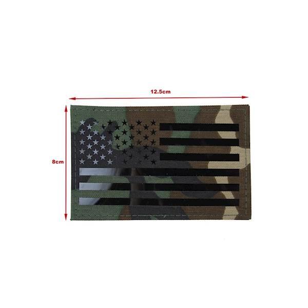 TMC Patch US Flag Laser Cut Woodland