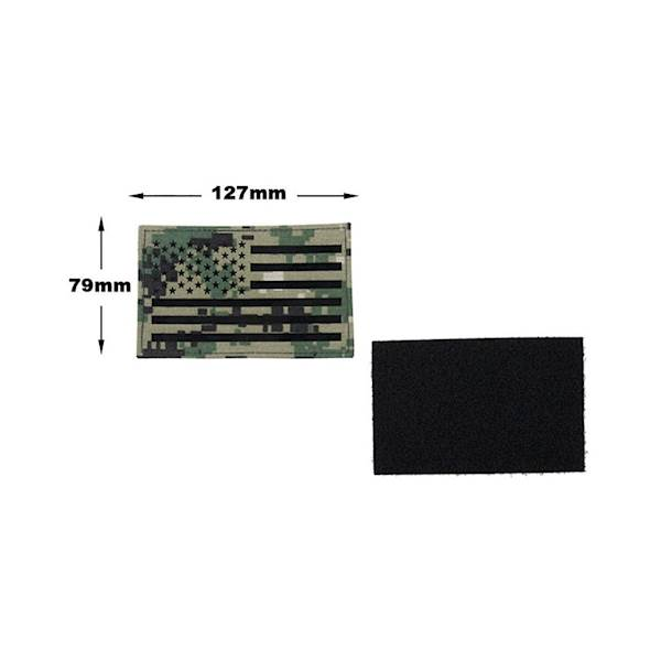 TMC Patch US Flag Laser Cut AOR2