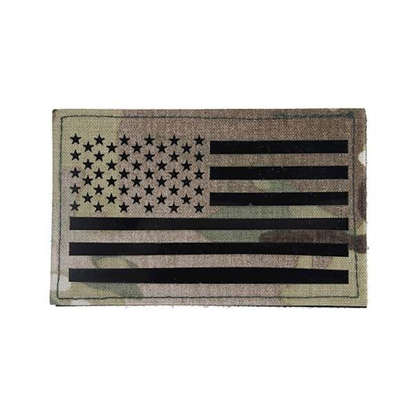 TMC Patch US Flag Laser Cut MultiCam