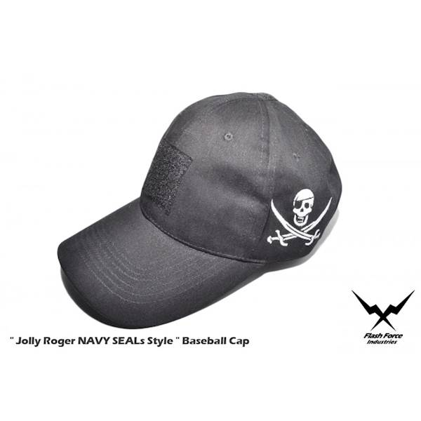 FFI Czapka NAVY SEALs Style Jolly Roger Black