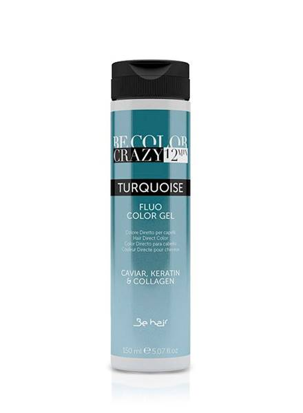 BE HAIR Be Color Crazy 12 min Turquoise Color Gel