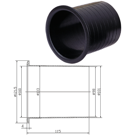 BASS REFLEX 10cm x 11,4 cm 2780