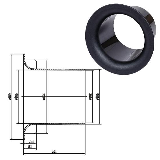 BASS REFLEX 4,5cmx10cm