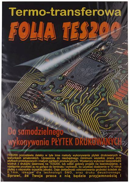 FOLIA TRANSFEROWA TES 200/5xA4+INSTR./502020