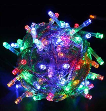 LAMPKI CHOINKOWE 100 LED MULTICOLOR 8W + PROGRAM.