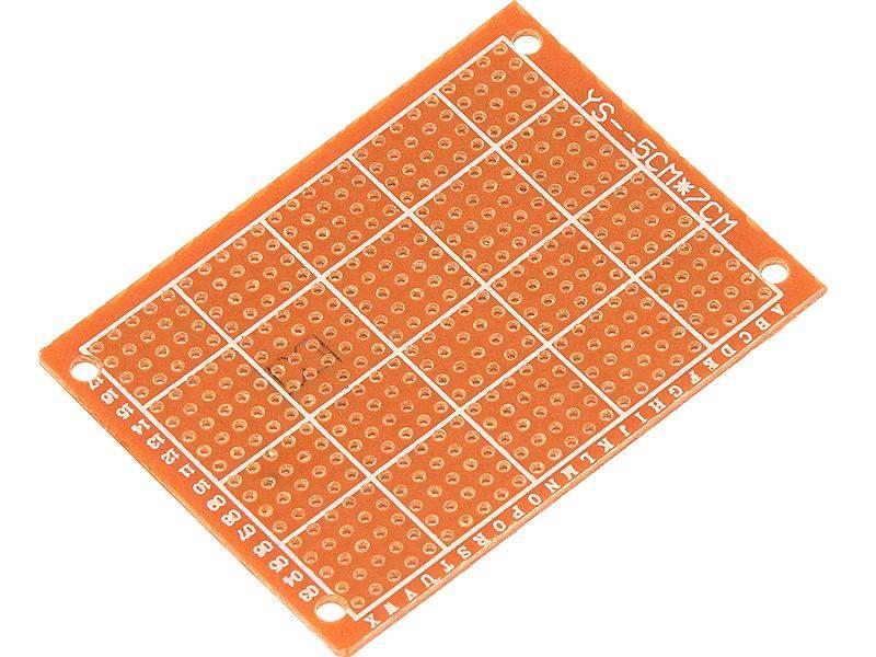 PŁYTKA UNIWERSALNA PCB 50X70mm 2,54mm WIERCONA