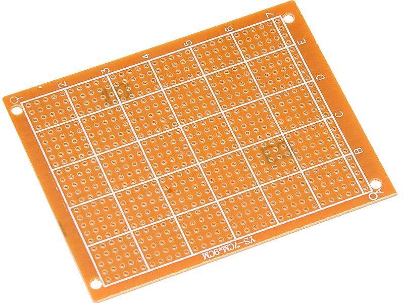 PŁYTKA UNIWERSALNA PCB 70X90mm 2,54mm WIERCONA