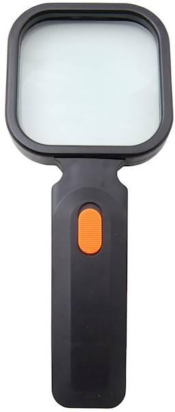 LUPA RĘCZNA 80X80mm/3D PODŚWIETLENIE 4XLED