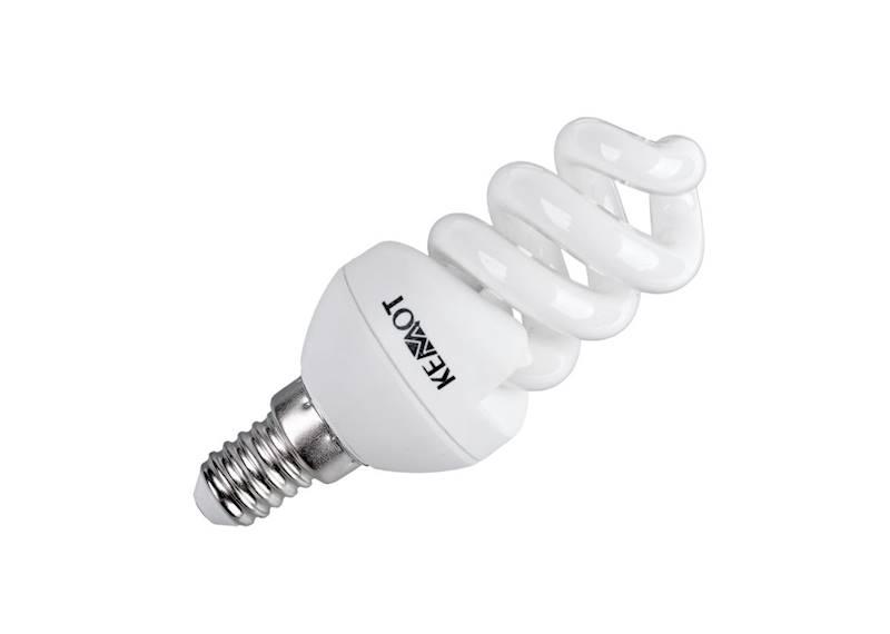 KOMPAKTOWA LAMPA FLUORESCENCYJNA SPIRALA E14, 7W