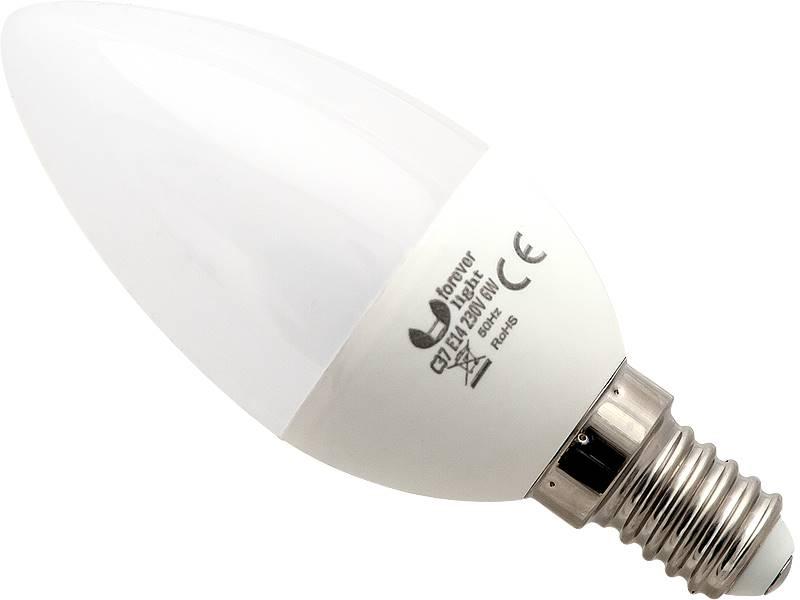 ŻARÓWKA LED E14 C37 ECO 6W B.CIEPŁA / 87-236