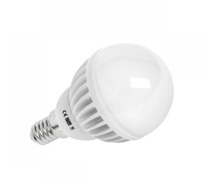 LAMPA LED (SMD2835) G50, 5,5W, E14, 3000K, 230V