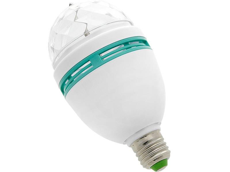 ŻARÓWKA LED E27 3W RGB VK-MB004 85V-230V/ 87-230
