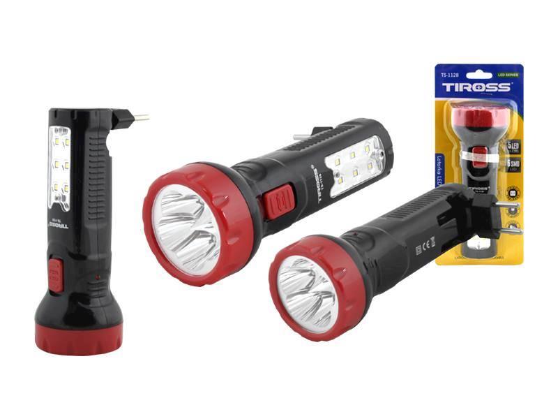 LATARKA RĘCZNA 5-LED+6SMD TS-1128
