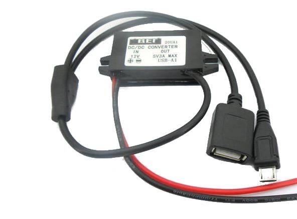 PRZETWORNICA NAP.12V - 5V 3A MICRO USB
